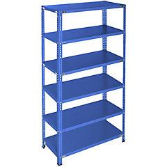 Estantería azul 6 bandejas 90x40x200 cm