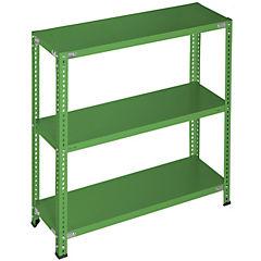 Estantería verde 3 bandejas 90x40x100 cm