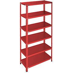 Estantería rojo 6 bandejas 90x60x200 cm
