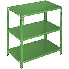 Estantería verde 3 bandejas 90x60x100 cm