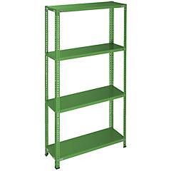 Estantería verde 4 bandejas 90x30x200 cm