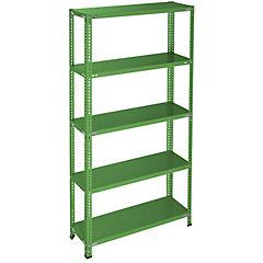 Estantería verde 5 bandejas 90x40x200 cm