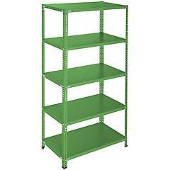 Estantería verde 5 bandejas 90x60x200 cm