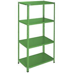 Estantería verde 4 bandejas 90x60x200 cm