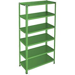 Estantería verde 6 bandejas 90x40x200 cm