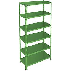 Estantería verde 6 bandejas 90x50x200 cm