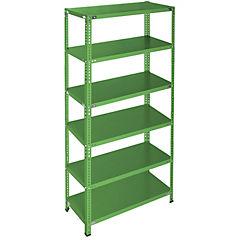 Estantería verde 6 bandejas 90x60x200 cm