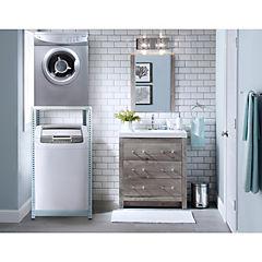 Estantería metálica para lavadora y secadora carga superior