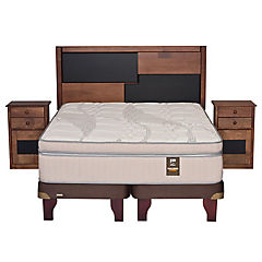 Cama Europea chocolate cobre king colonia
