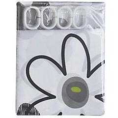 Cortina de baño Flores poliéster 180x180 cm