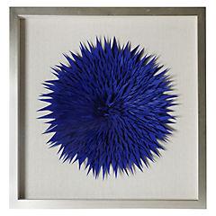 Cuadro tela fieltro azul 60x60 cm