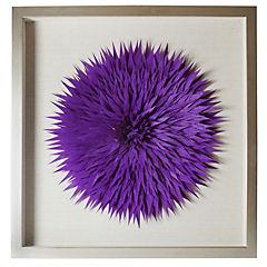 Cuadro tela fieltro purpura 60x60 cm