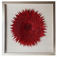 Cuadro tela fieltro rojo 60x60 cm