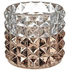Portavelas cristal 7 cm Cobre