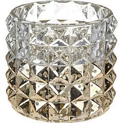 Portavelas cristal 7 cm Oro
