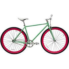 Bicicleta urbana 28 turquesa vintage y fucsia S