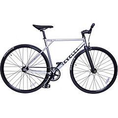 Bicicleta mensajera aro 28 liviana cromada M
