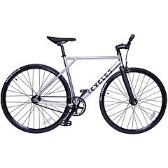 Bicicleta mensajera aro 28 liviana cromado L