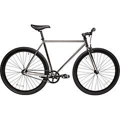 Bicicleta urbana 28 cromado negro S