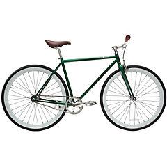 Bicicleta urbana 28 verde y blanco M