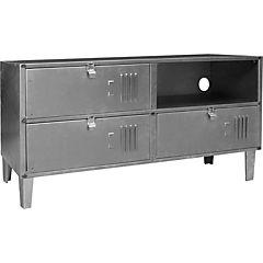 Rack TV lockers industrial 2 cuerpos 4 puertas