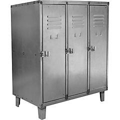 Bar lockers industrial 3 cuerpos 3 puertas