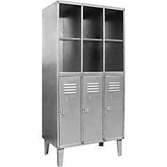 Estante lockers industrial 3 cuerpos 3 puertas inferiores