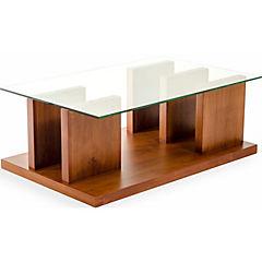 Mesa de centro 110x70 cm madera miel