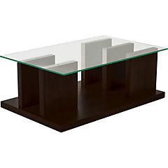 Mesa de centro 110x70 cm madera café moro