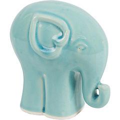 Elefante cerámica 17 cm turquesa