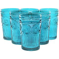 Set 6 Vasos Largo Calipso Flores