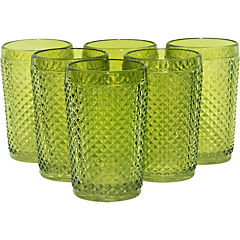 Set 6 Vaso Largo Verde