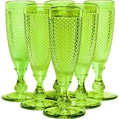 Set 6 Copas Champagne Verde