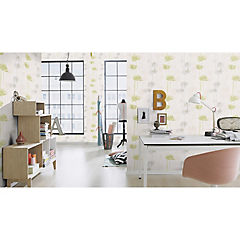 Papel mural Homevision blanco/gris 226 gr