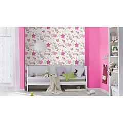 Papel mural Kids & teens blanco/rosado 226 gr