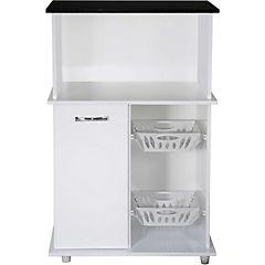 Mueble para microondas 1 puerta 108,5x69 cm Blanco