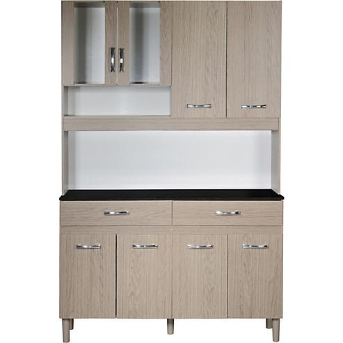 Kit mueble cocina 122x184x36 cm Roble - Favatex - 3589277