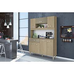 Kit mueble cocina 121x170x35,5 cm Café