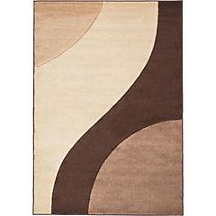 Alfombra Hawái Curvas Beige/Café 133X190 cm