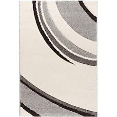 Alfombra Houston Curvas Crema/Gris 80X230 cm