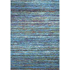 Alfombra Sari Rayas Azul 133X190 cm