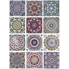Stickers cirque 15x15 cm set de 12 unidades