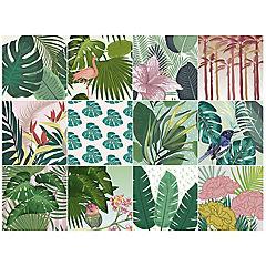 Stickers tropical 15x15 cm set de 12 unidades