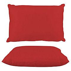 Almohada poly algodón americana rojo italiano