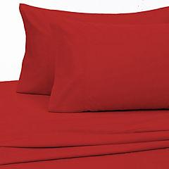 Sabana 144 hilos 2 plazas rojo italiano