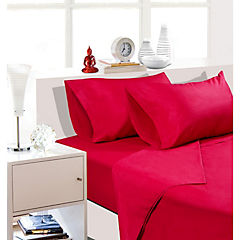 Sabana estándar 144 hilos king rojo italiano
