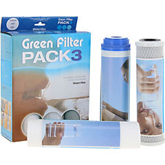 Pack 3 repuestos osmosis green filter pack