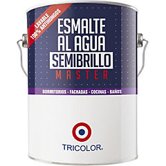 Esmalte al agua semibrillo master blanco 1 gl