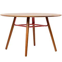 Mesa madera oscura rojo