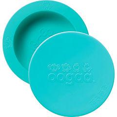 Bowl de silicona con tapa turquesa